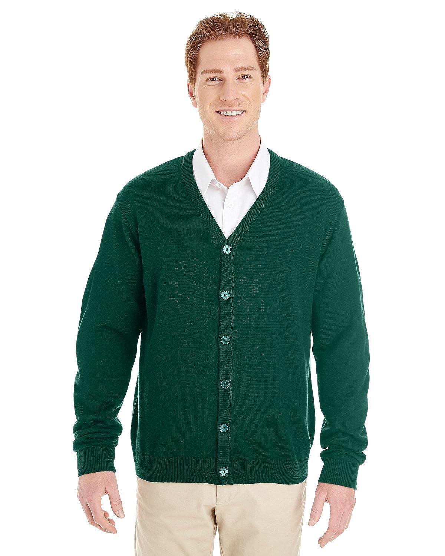 M425 Harriton Pilbloc V-Neck Button Cardigan Sweater