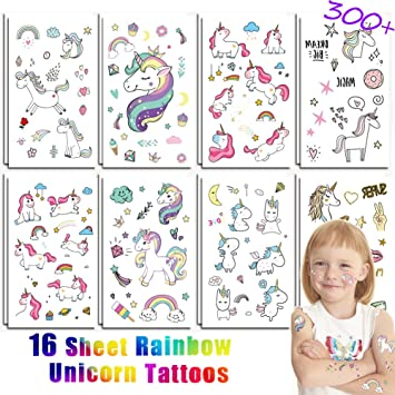 Amazon.com: KeaParty Unicorn Temporary Tattoos - Unicorn Party ...