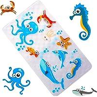 WARRAH None-Slip Kids Bath Mat - Premium Square Anti-Slip Shower Mat,Cool Slip Resistant Bathroom Floor Bathtub Mats for Babies,Children