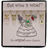 Wine Things WT-1410P I Do Wine Charms, Painted