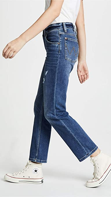 574b0220 Wrangler Women's High Rise Boyfriend Jeans, Denver, 27 at Amazon Women's  Jeans store