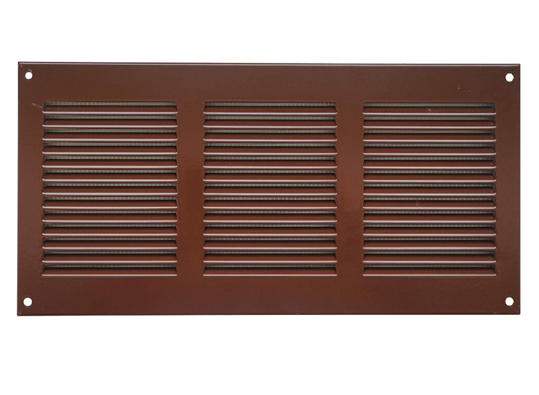 Awenta KP55 –  Rejilla de ventilació n anti-insectos (300 x 150 mm, Marró n, mr3015b Marrón Europlast