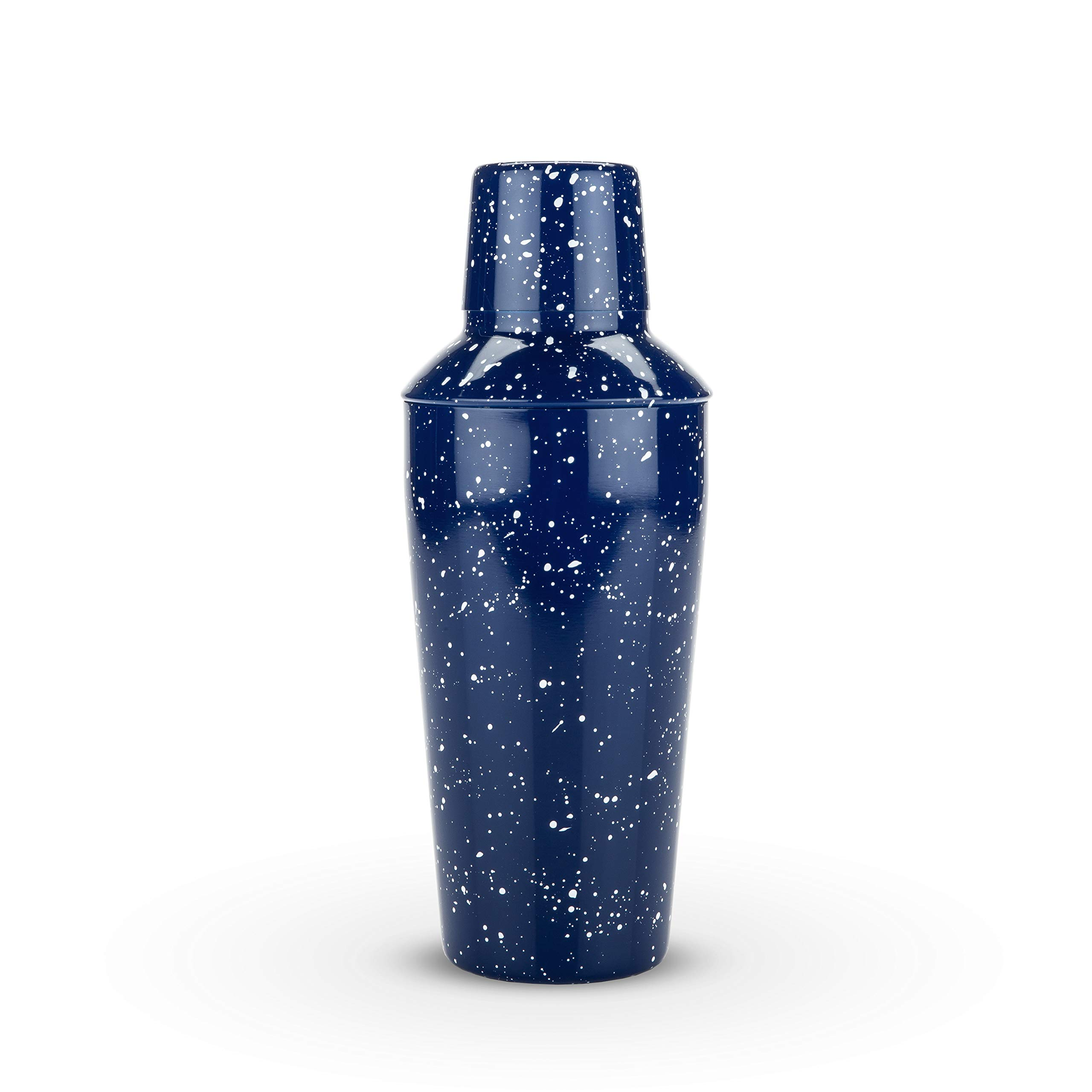 Foster & Rye 4653 Enamel Cocktail Shaker and Jigger Set, Blue by Foster & Rye