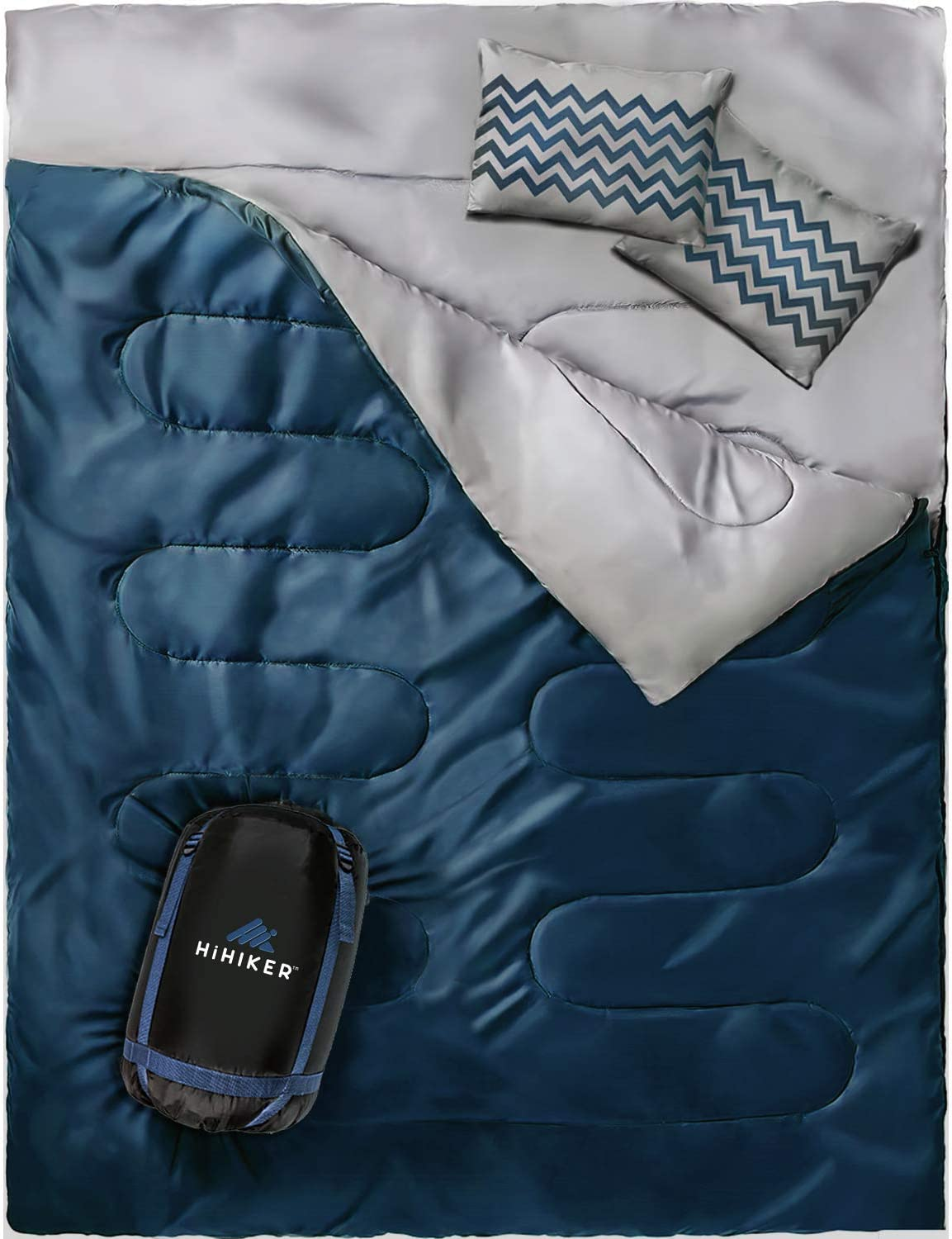 HiHiker Double Sleeping Bag for Hiking