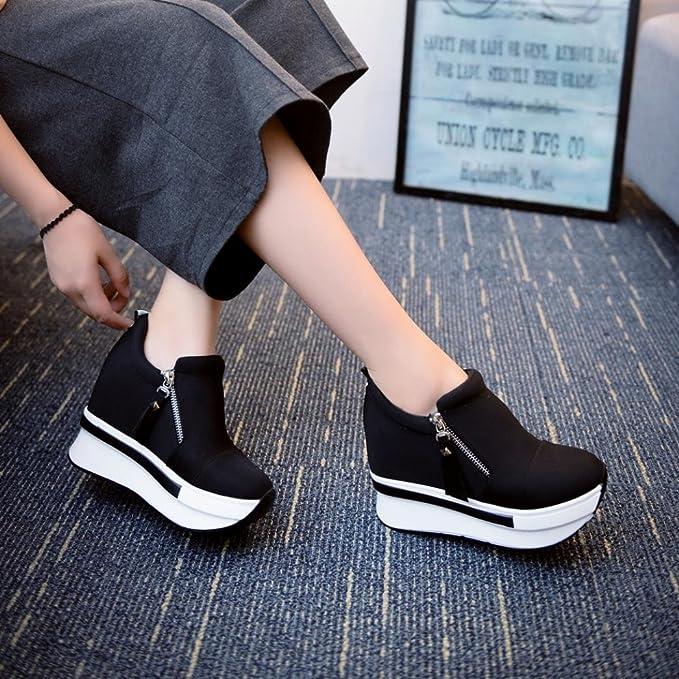 Cubre Covermason Botas Zapatos de plataforma Slip On Botines Zapatos casuales de moda(37 EU, Negro): Amazon.es: Ropa y accesorios