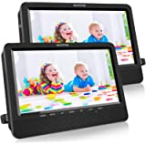 WONNIE 10.5 Portable Dual DVD Players with Two Mounting Brackets, 1024x800 HD LCD TFT, USB/SD/MMC Card Readers, Built-in…
