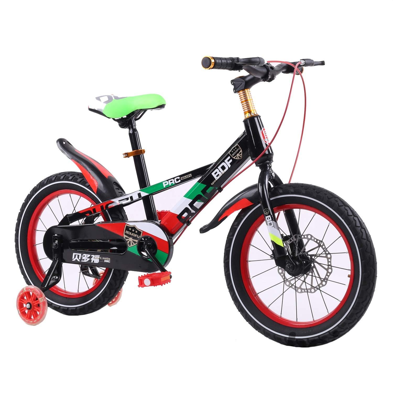 【人気急上昇】 LEDフラッシュトレーニングホイールで 16、フリースタイルガールズボーイズチルドレンバイク inches 16 B inches B B07PQLXHM2, アンバージャック:236dd1af --- senas.4x4.lt
