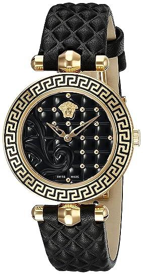 Versace Reloj Análogo clásico para Mujer de Cuarzo con Correa en Cuero VQM010015