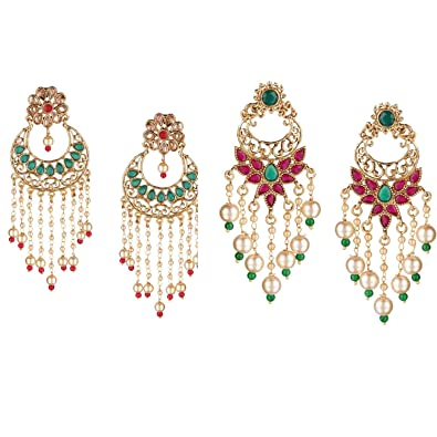 9bfb0660a Amazon.com: Efulgenz Indian Bollywood 14K Gold Plated Traditional ...