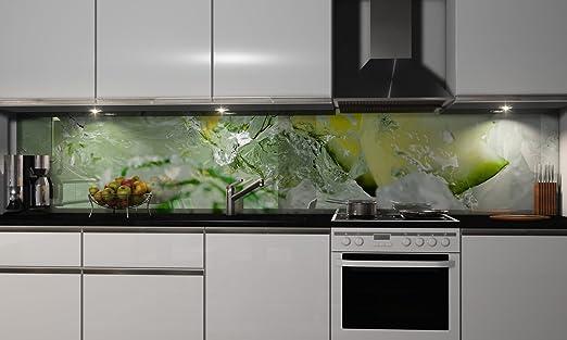 Küchenrückwand-Folie In Touch Klebefolie Spritzschutz Küche Fliesenspiegel  Möbel Rückwand selbstklebend   mehrere Größen   DIY