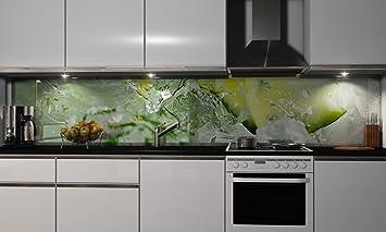 Küchenrückwand-Folie In Touch Klebefolie Spritzschutz Küche Fliesenspiegel  Möbel Rückwand selbstklebend | mehrere Größen | DIY