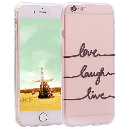 Asnlove iPhone 6 Funda Silicona, Carcasa Gel TPU Silicona Bumper Crystal Clear Case Cover Trasparente Protectora Bumper Back Shell Cover Cubierta Tapa ...