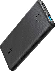 Anker Power Bank, PowerCore Slim 10000, Ultra Slim Portable Charger, Compact 10000mAh External Battery, High-Speed PowerIQ Charging Technology for iPhone, Samsung Galaxy and More (USB-C Input Only)