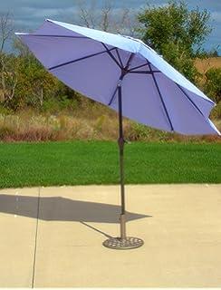9u0027 Outdoor Patio Market Umbrella With Hand Crank And Tilt   Purple