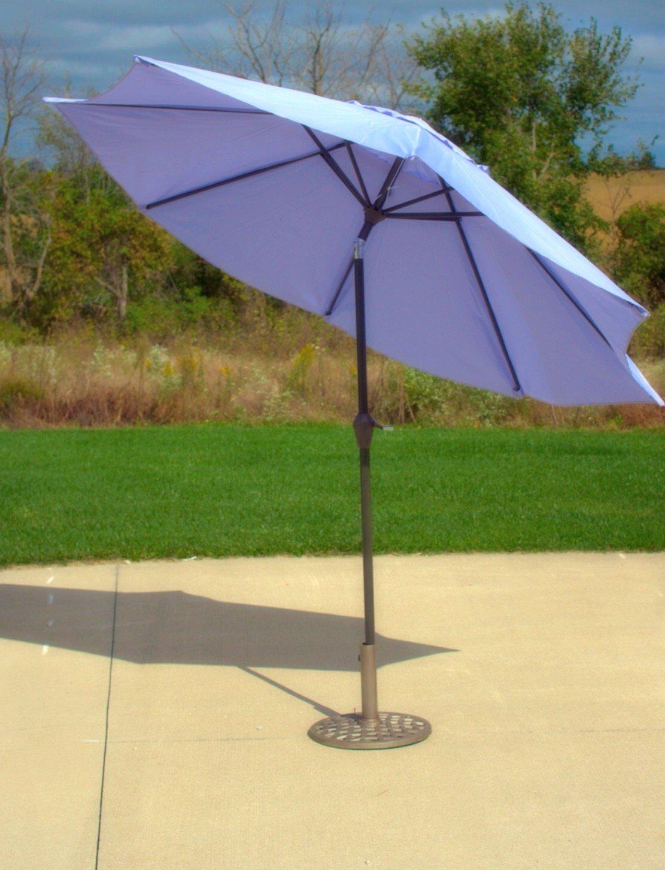 Amazon.com : 9u0027 Purple Aluminum Patio Market Umbrella Tilt With Crank :  Garden U0026 Outdoor