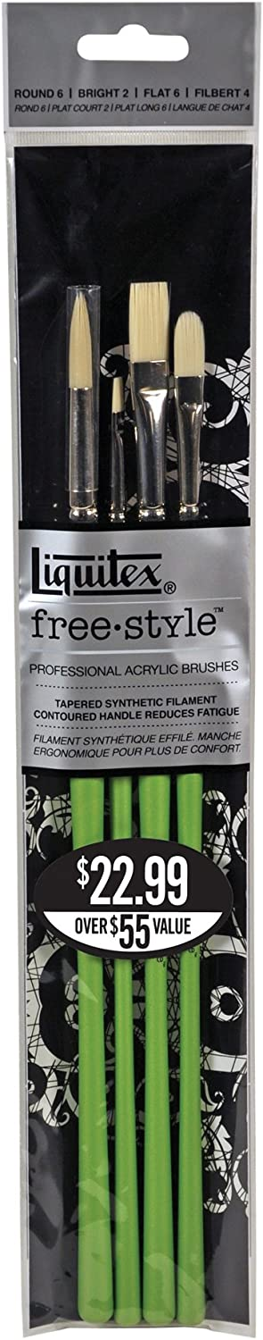 Liquitex 1300212 Professional Freestyle Traditional Brush 12 Detail Bright No
