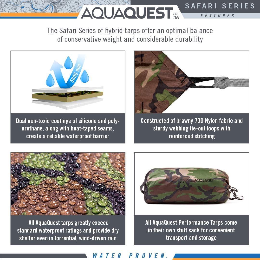 100/% Wasserdichte Plane Heavy Duty Nylon Bushcraft Ü Aqua Quest Defender Tarp