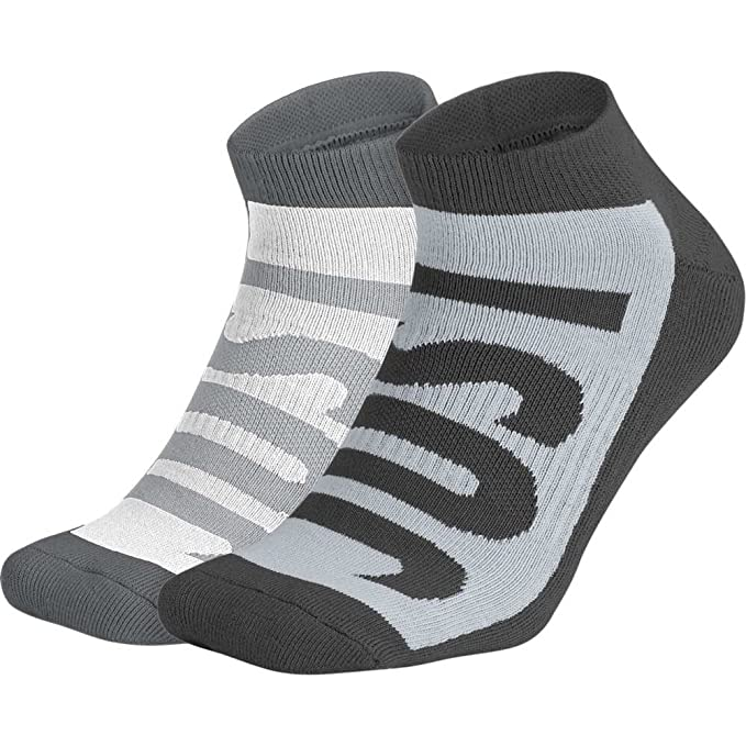 Calcetines Nike - Sportswear No-Show (2 Pair) gris/carbón/blanco ...