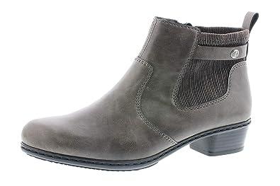 Grösse 41 Rieker Damen Stiefelette grau 9 Loafers & Slip Ons
