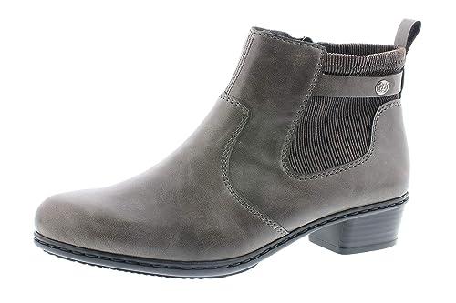 1c95ff8d22f Rieker Y07A2 - Botas sin Cremallera de Sintético Mujer: Amazon.es: Zapatos  y complementos