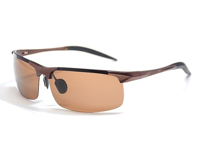 Jee Gafas de sol hombre mujer polarizadas sports driving 8177(CafšŠ): Amazon.es: Ropa y accesorios