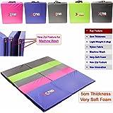 Yoga Tri pliante 5cm moins de 5,1cm d'épaisseur en mousse Tapis de yoga Gym ABS d'exercice Home Fitness Workout Camping Tapis lavable en machine