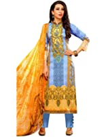 Vaamsi Salwar Suit Dress Material (Lawn1003_Muti-Coloured_Free Size)