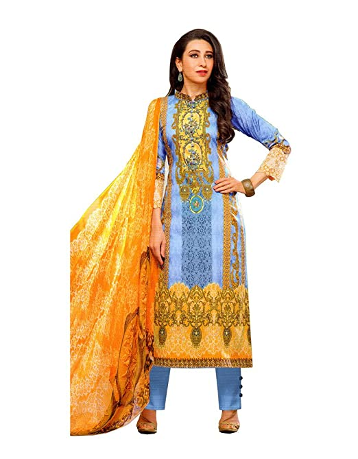 Vaamsi Women's Dress Material Women's Ethnic Unstitched Fabric at amazon
