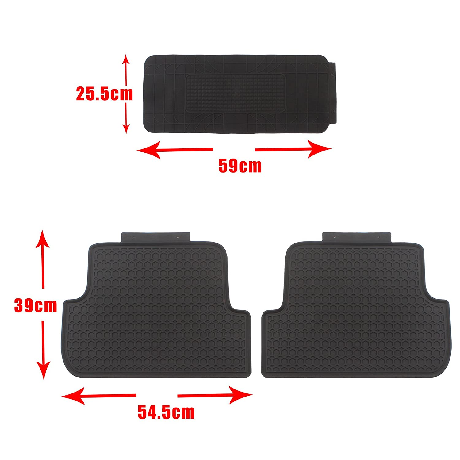 Floor Mat for 2010 Mazda 3 Black All Weather Heavy Duty Floor Protection Breathable Car Floor Liners 5Pcs New Dirt-proof Durable Mats