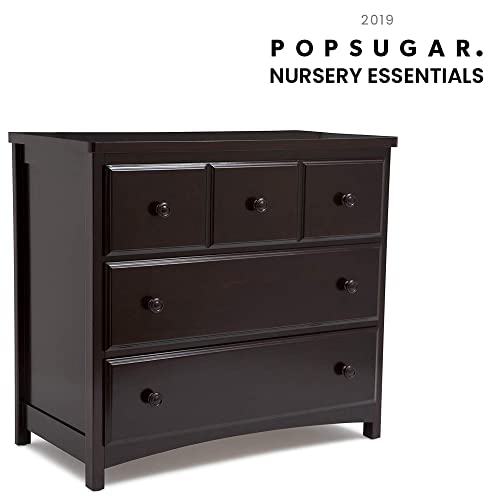 Delta Children 3 Drawer Dresser, Dark Chocolate