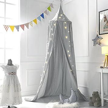 Baldachin Kinderzimmer, 240cm Kinder Bett Kuppel Baumwoll Betthimmel  Moskitonetz Spiel Zelt Gut Für Baby Innen