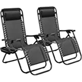 Tuoze Zero Gravity Chairs Adjustable Outdoor Folding Lounge Patio Chairs with Pillow Recliners for Poolside, Beach, Yard…