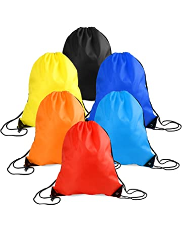 547fcf55e255 WXJ13 6 Pieces Drawstring Tote Bag Cinch Gym Bags Storage Backpack