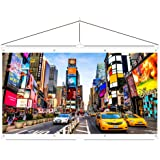 JaeilPLM Indoor, Outdoor 120 Inch 16:9 Projector Screen. Instant Wrinkle-Free Triangle Hanging Design. 4-Hook Tension Technology. For Home Theater, Gaming, Office, and Movie Projection. 4K Compatible.