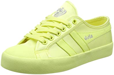 Womens Coaster Satin Neon Yellow Trainers Gola BPsc0rAeq