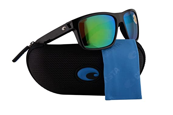 947b4b592ac Image Unavailable. Image not available for. Color  Costa Del Mar Slack Tide  Sunglasses Shiny Black w Polarized Plastic Green Mirror 580P Lens