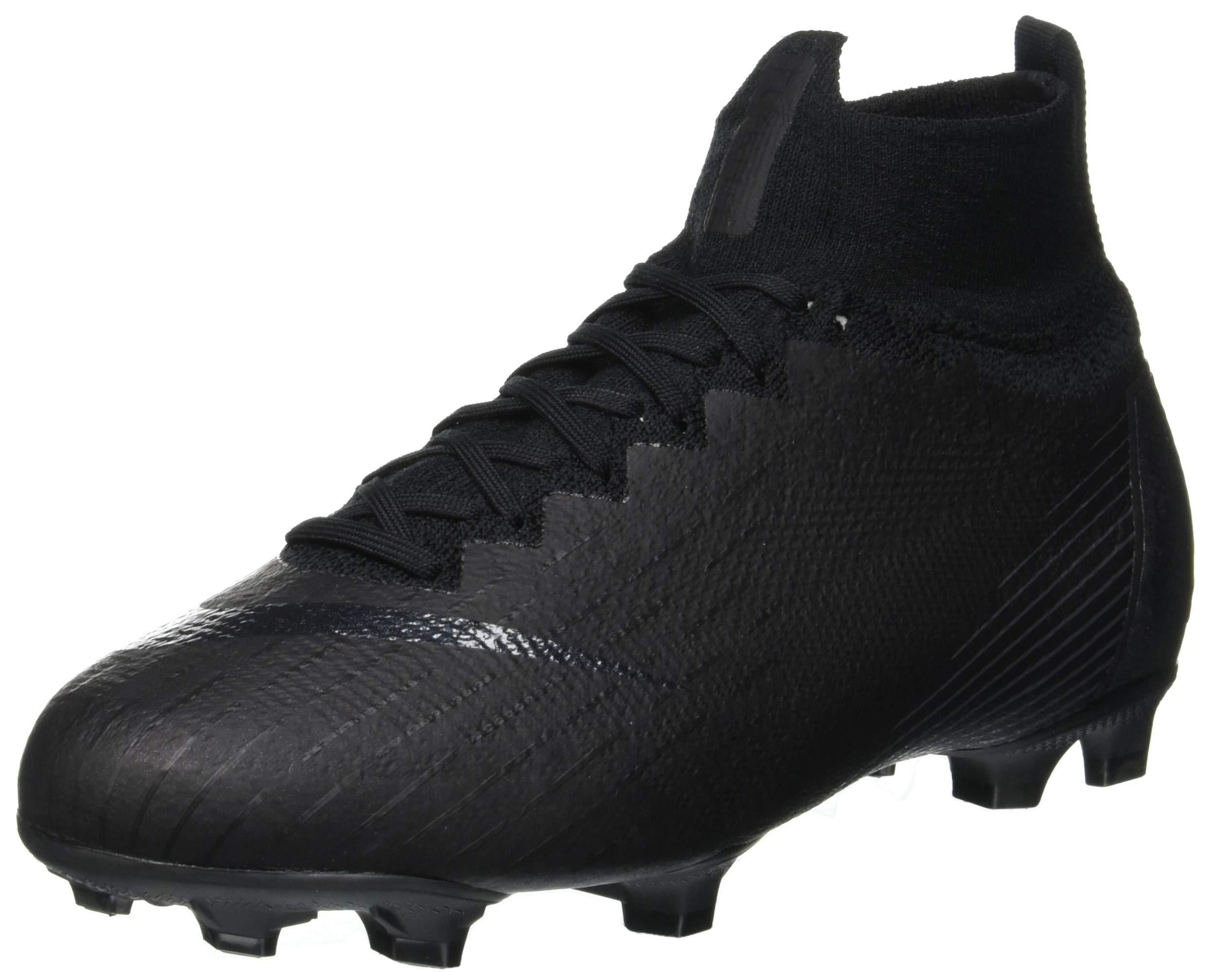Nike Kids' Superfly 6 Elite FG Soccer Cleats (5.5, Black/Black)
