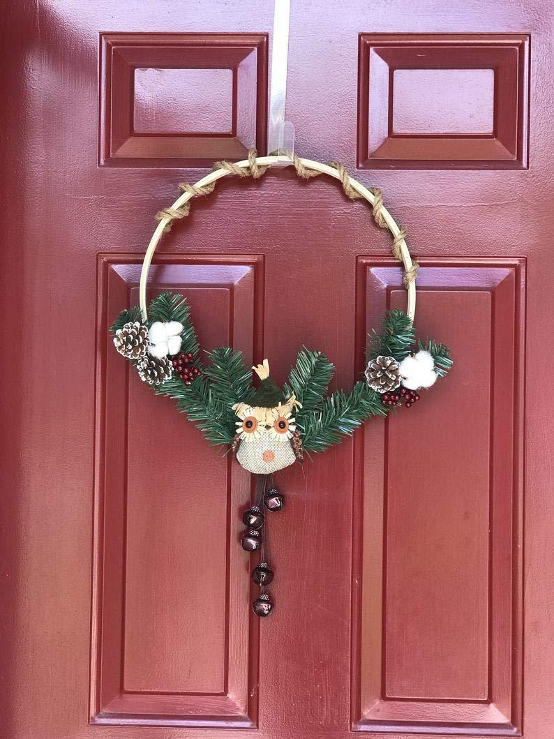 RubyShopUU Fall Owl Embroidery Wreath by RubyShopUU