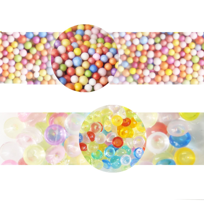 Slime Making Kits Supplies, 40 Packs Slime Supplies,Pearl, Foam Balls,Fishbowl Beads, Glitter Sheet Jars, Colorful Sugar Paper Accessories, Slime Tools for Slime Making Art DIY Craft by nongmen