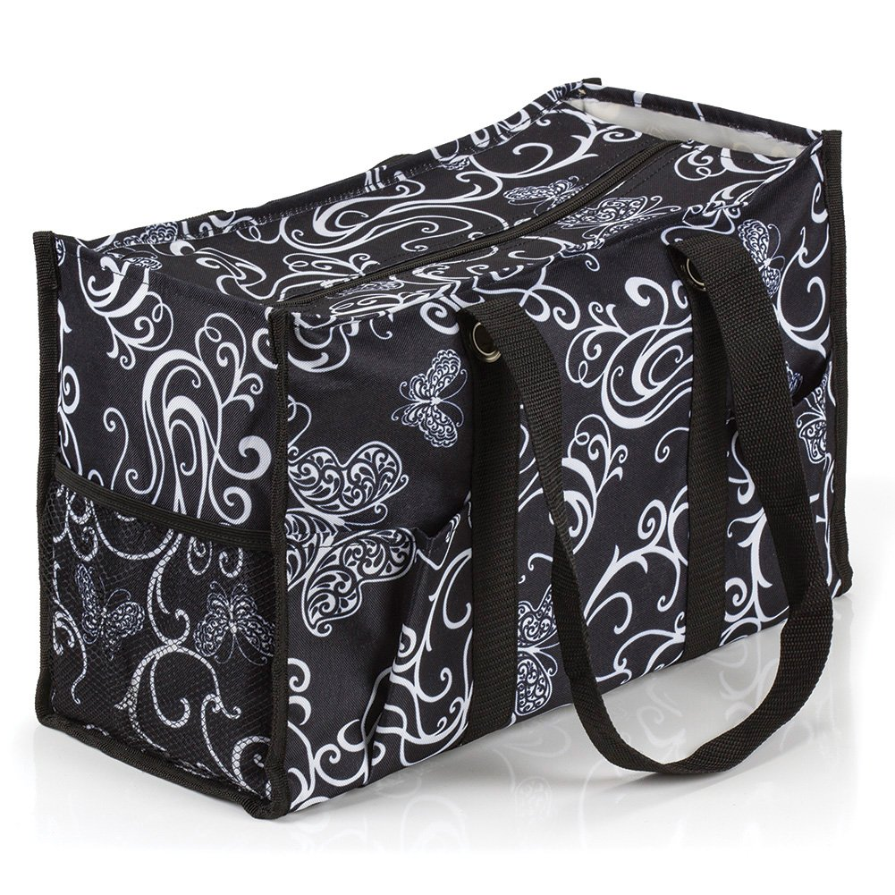 All Purpose Utility Tote Bag (Butterfly Swirl)