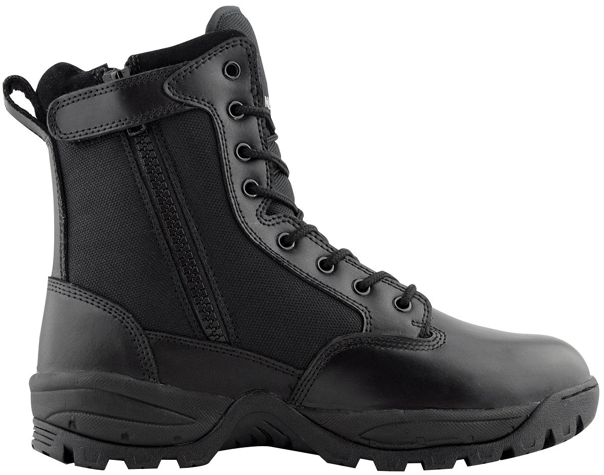 Maelstrom Men's TAC Force 8 inch Military Tactical Duty Work Boot with Zipper, Black, 10 M US by Maelstrom