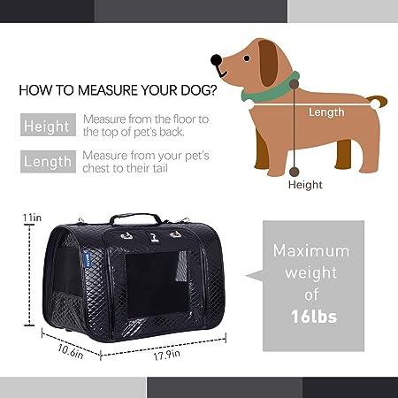 Amazon.com: Petper Pet Carrier diseñado para gatos, perros ...