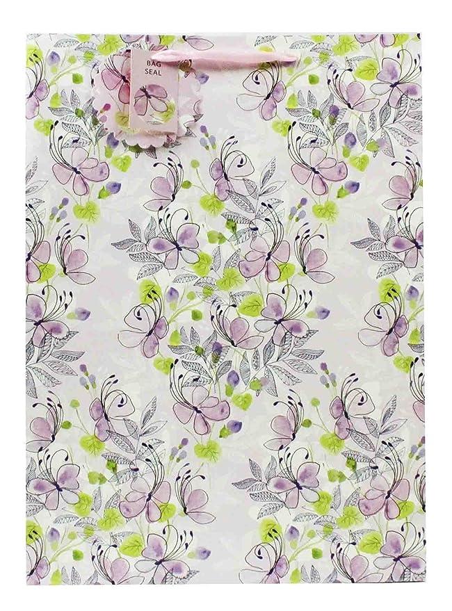 4ddcdc9e6 Bolsa de regalo extragrande para mujer, diseño floral, color pastel:  Amazon.es: Oficina y papelería