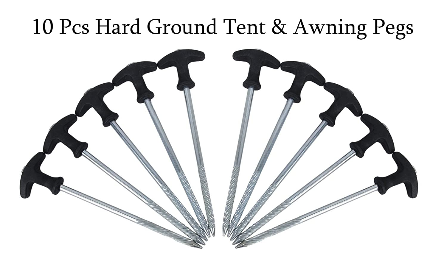 10x Hard Standing Ground Drill Screw In Tent Pegs - Caravan C&ing Tent Awning Amazon.co.uk Sports u0026 Outdoors  sc 1 st  Amazon UK & 10x Hard Standing Ground Drill Screw In Tent Pegs - Caravan ...
