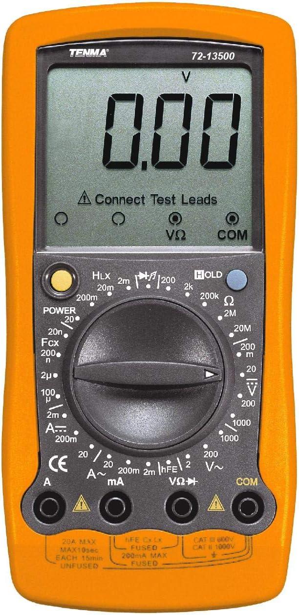 72-13500 – DIGITAL MULTIMETER, MEAN VALUE, 20A, 1KV 72-13500