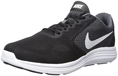 Nike Men's Revolution 3 Dark Grey, White and Black Running Shoes - 10 UK/