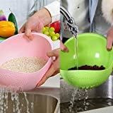 Ketsaal Rice, Fruits,Vegetable,Noodles,Pasta,Washing Bowl & Strainer Good Quality & Perfect Size for Storing and Straining(Pack of 2)