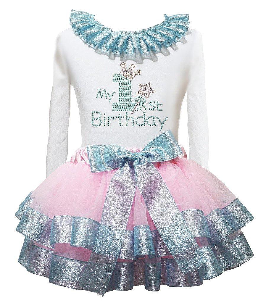 Petitebelle mi Primer cumpleaños Color Blanco L/S Camiseta ...