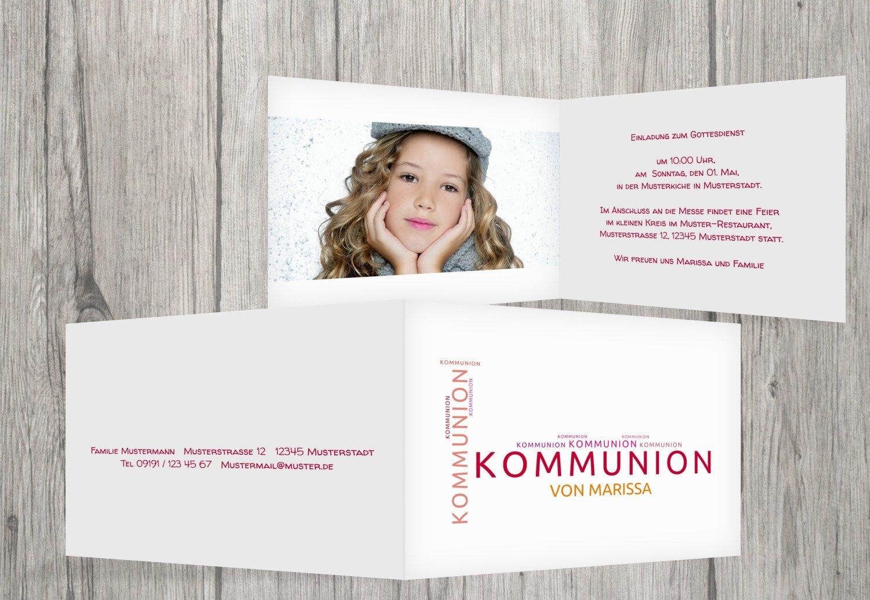 Kartenparadies Einladungskarte zur Kommunion Kommunion Kommunion Kommunionskarten Script, hochwertige Einladung als Kommunionskarte inklusive Umschläge   20 Karten - (Format  148x105 mm) Farbe  Blau B01MUGL2PO | Outlet Online Store  | Zart  | Leicht zu reinigende Ober e87688