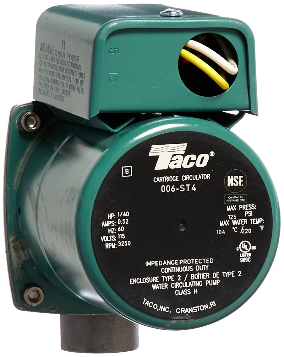 Taco 006-ST4 1/40 HP 115V Stainless Steel Circulator Pump